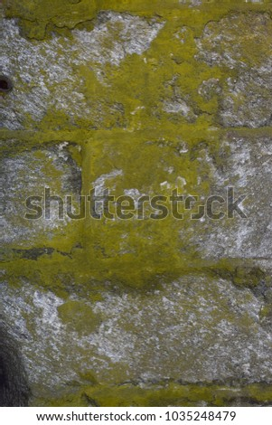 Closeup aged cobblestone abstract background texture.  #1035248479