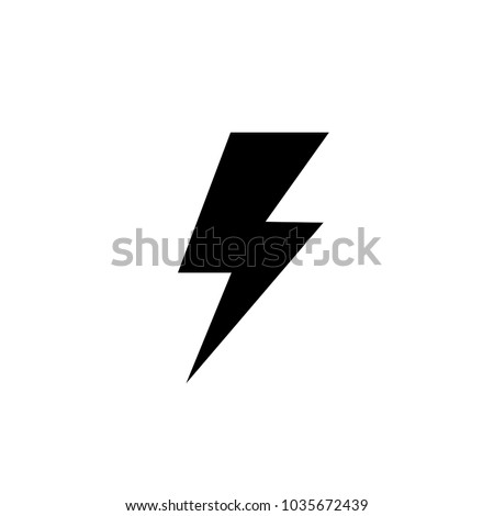 Lightning, electric power vector logo design element. Energy and thunder electricity symbol concept. Flash bolt sign in the circle. Flash vector emblem template. Power fast speed