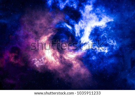 High definition star field, colorful night sky space. Nebula and galaxies in space. Astronomy concept background. #1035911233