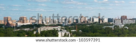 panoramic view on the district of Moscow #103597391