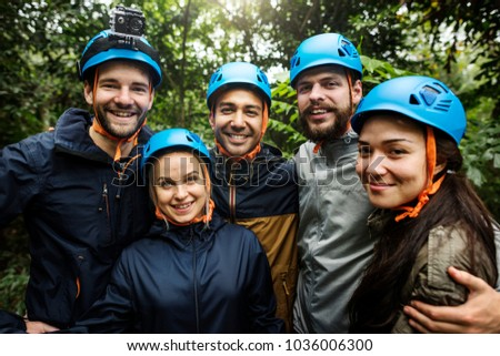 Team building outdoor in the forest #1036006300