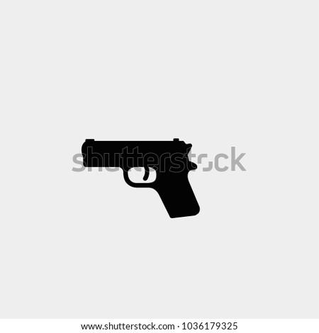 Gun icon. Vector gun icon. Pistol symbol