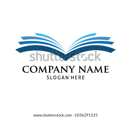 smart learning education book shop store vector logo design template