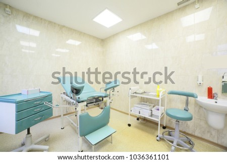 bright and luxury european medical cabinet interior #1036361101