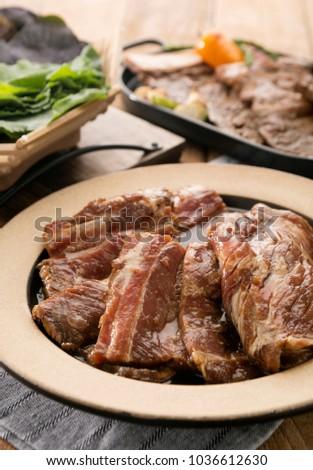 Pork ribs on the table #1036612630