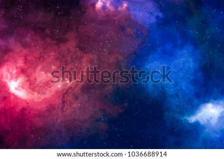 High definition star field, colorful night sky space. Nebula and galaxies in space. Astronomy concept background. #1036688914