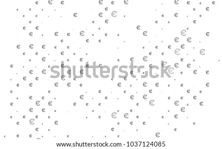 Light Silver, Gray vector pattern with symbols of Euro. Modern abstract illustration with symbols of digital money. Smart design for your business advert of economic, wealth. #1037124085