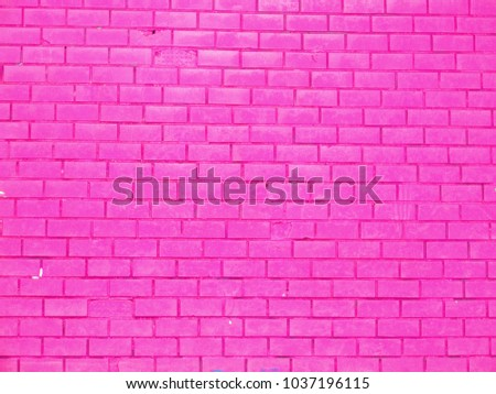 brick wall pink background for banner or card #1037196115