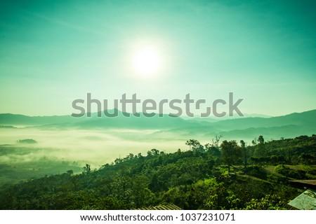 Beautiful Mountain View of Phu Langka National Park, Thailand. #1037231071