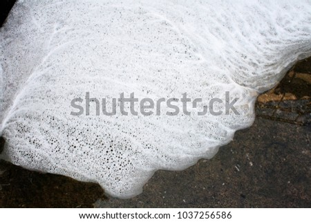 Laundry bubbles Grouped in white, free-form #1037256586