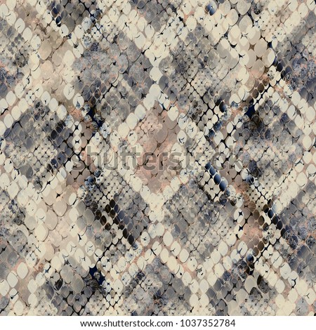 Seamless pattern of wild design. Skin background with watercolor effect.