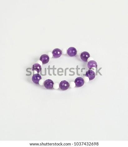 stone Bracelet on white background #1037432698