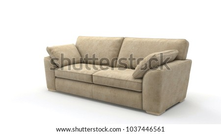 Image of a modern sofa isolated on white #1037446561