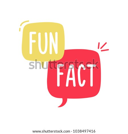 Vector fun and cheerful doodle speech bubble with the words Fun Fact. Vector concept illustration Royalty-Free Stock Photo #1038497416