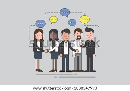 Illustration of business people #1038547990