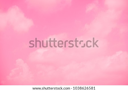 Pink sky background with white clouds. #1038626581