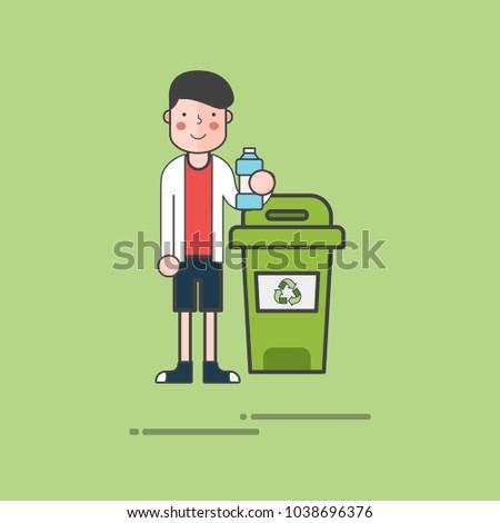 Illustration of environmental concept #1038696376