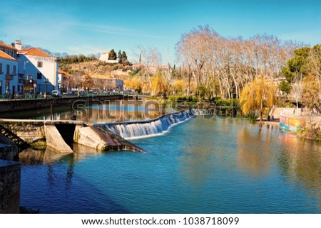 Tomar, Portugal 18-02-2018: Tomar city center, Santarem District in Portugal #1038718099