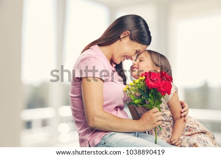 Happy daughter and mother #1038890419