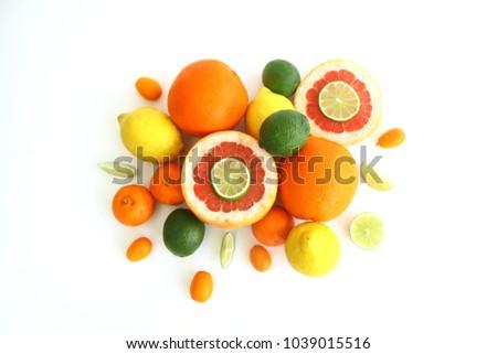 fruits on white background #1039015516