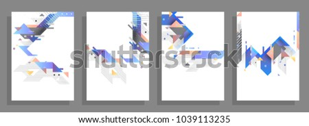 Geometric poster templates. Modern abstract design. Esp10 vector. #1039113235