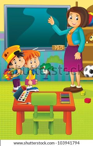 Cartoon kindergarten 3