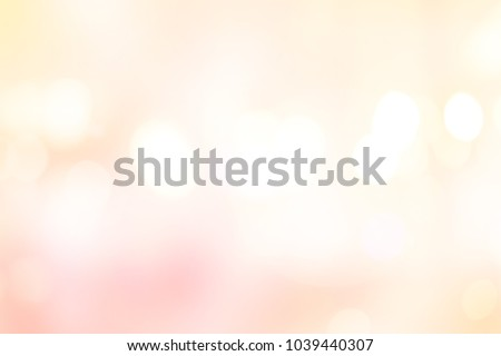 abstract blurred beautiful glowing pastel color of pink and yellow gradient background with double exposure bokeh light concept for wedding card design or presentation or other #1039440307