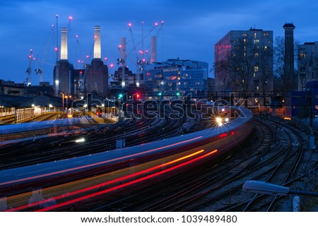 battersea power station rail train #1039489480
