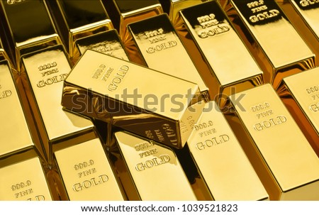 Stack of gold bars. Financial concepts. #1039521823