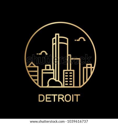 Detroit City icon. Vector illustration