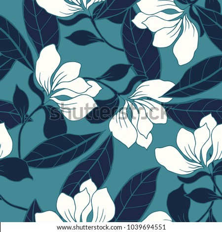 Abstract elegance pattern with floral background.  #1039694551