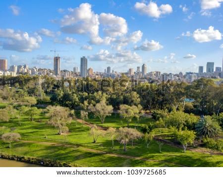 Tel Aviv  Cityscape  HaYarkon Park #1039725685