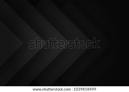 Modern Black abstract design geometric background, paper style