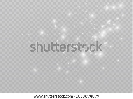 White sparks glitter special light effect. Vector sparkles on transparent background. Christmas abstract pattern. Sparkling magic dust particles #1039894099