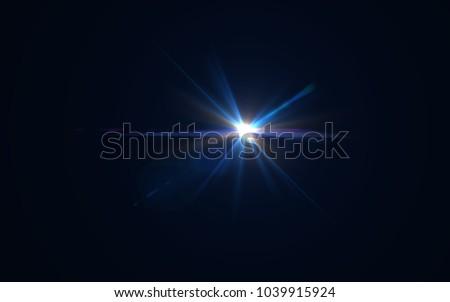 Lens Flare Blue Light #1039915924