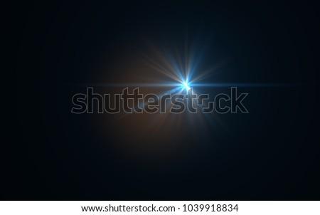 Lens Flare Blue Light #1039918834
