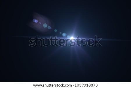 Lens Flare Blue Light #1039918873