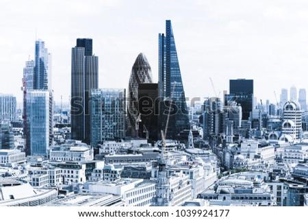 Modern skyscrapers in London HDR