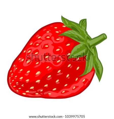 Ripe sweet strawberry #1039975705