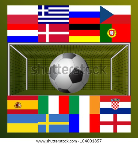 football 2012 champion continent background #104001857
