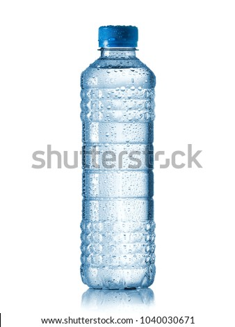 Water bottle with drops #1040030671