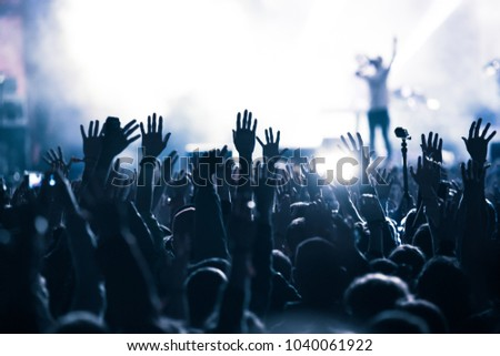 crowd at concert - summer music festival #1040061922