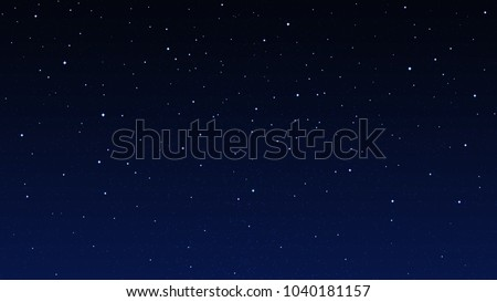Night starry sky, dark blue space background with stars Royalty-Free Stock Photo #1040181157