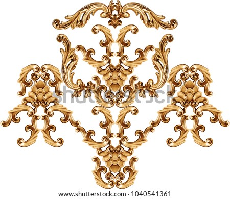 golden baroque ornament #1040541361
