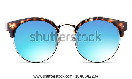 closeup of sunglasses Royalty-Free Stock Photo #1040542234