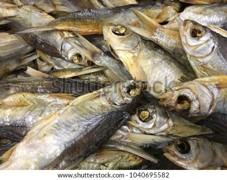 Russian snack dried fish vobla #1040695582