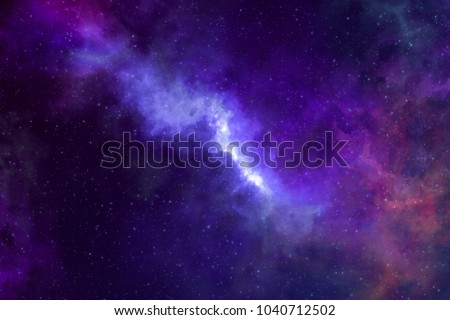 High definition star field, colorful night sky space. Nebula and galaxies in space. Astronomy concept background. #1040712502