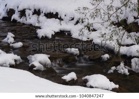 Winter creek in Upstate New York #1040847247