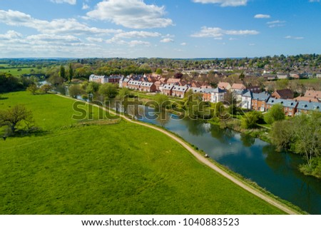 Aerial - Wimborne Minster River #1040883523