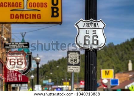 Route 66 in Williams, Arizona. #1040913868